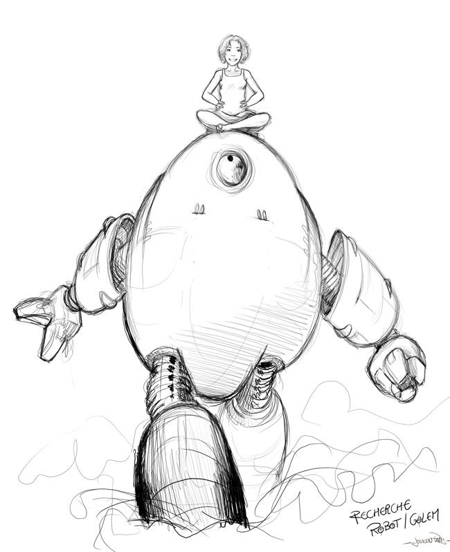 Robot-Golem-Fille