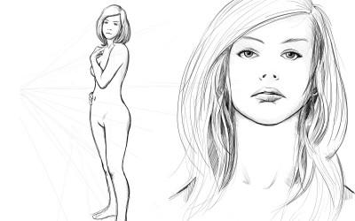 anatomie, visage et chevelure